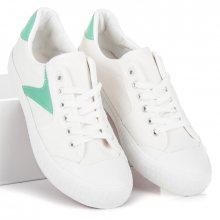 Bílé tenisky se zelenými vložkami