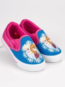 Nazouvací modro-růžové dívčí tenisky Ledové království