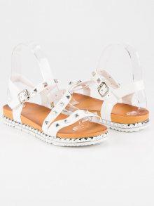 Bílé sandály se cvoky