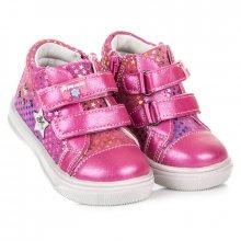 Nádherné růžové dětské kotníkové tenisky s hvězdami