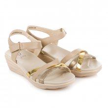 Pohodlné béžové sandály na suchý zip