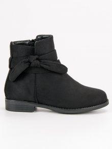 Dívčí černé kotníkové boty
