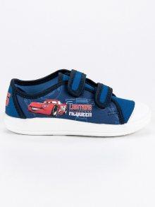Chlapčenské modré tenisky s potiskem autíčka
