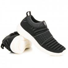 Nazouvací černé textilní tenisky