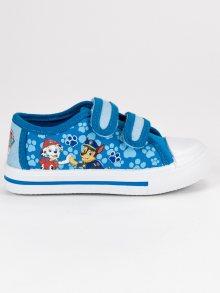 Dětské modré tenisky na suchý zip Tlapková Patrola