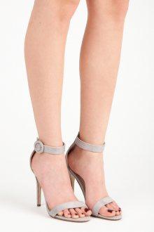 Rozkošné šedé sandály na vysoké jehle