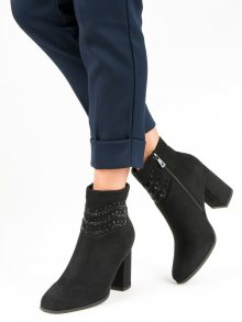 Elegantní černé botky na zip