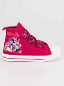Dětské růžové tenisky na suchý zip Mickey Mouse