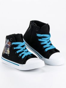 Originální černé detské tenisky Monster High