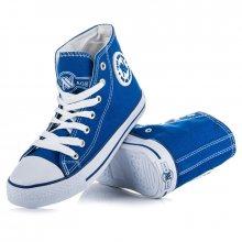 Klasické modré šněrovací kotníčkové tenisky