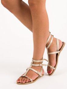 Moderní zlaté sandály