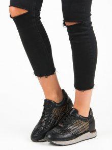 Dámské módní černé tenisky