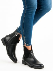Stylové černé kotníkové boty
