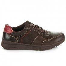 Kvalitní tmavě hnědé pánské sportovní boty