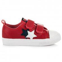 Luxusní červené dětské tenisky s hvězdičkami