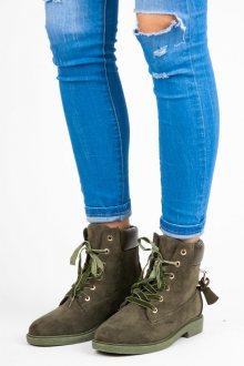 IDEAL Dámské kotníkové boty J-8686GR