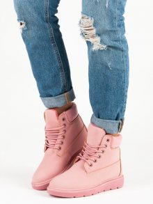 Modní růžové traperky