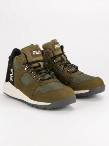 Kvalitní olivové pánské sportovní boty od značky Fila