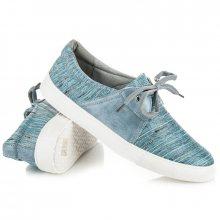 Efektní modré tenisky s vázáním na tkaničky