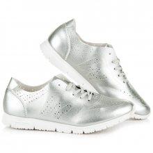 Velmi pohodlné prodyšné stříbrné dámské tenisky
