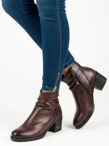 VINCEZA Dámské kotníkové boty XY19-10464BR