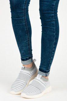 Nazouvací šedé textilní tenisky