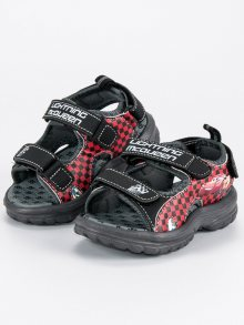 Chlapecké černé sandály na suchý zip
