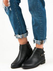Nízké černé kotníkové boty