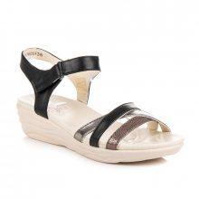 Pohodlné černé sandály na suchý zip