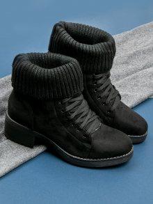 Šněrovací černé botky