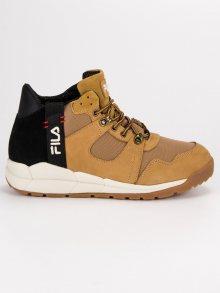 Kvalitní hnědé pánské sportovní boty od značky Fila