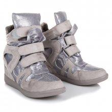 Stylové šedé sneakery na suchý zip