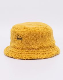 Stüssy Sherpa Fleece Bucket Hat Yellow L/XL
