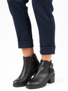 Pohodlné černé botky na podpatku