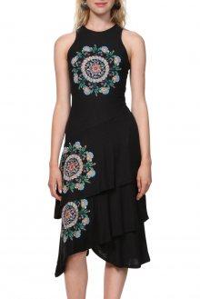 Desigual černé šaty Vest Chelsea - M