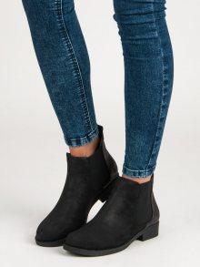 Černé kotníkové boty s elastickou vsadkou