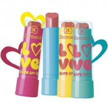 Dermacol Zvláčňující balzám na rty Love Lips SPF 15 3,5 ml 08 meruňková, vůně Broskev