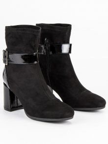Elegantní černé botky na podpatku