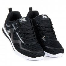 Běžecké černé tenisky s bílými vložkami