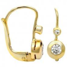 Brilio Zlaté náušnice s krystaly 239 001 00060 - 1,45 g