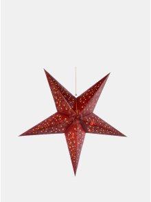 Červená LED papírová hvězda Kaemingk