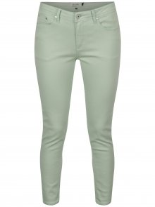 Světle zelené zkrácené slim fit džíny Blendshe Bright Jazy
