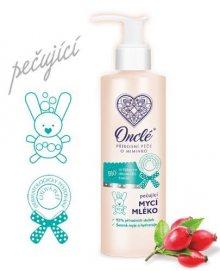 Onclé Luxusní dětské mycí mléko na tělo i vlásky s Bio šípkovým olejem 200 ml