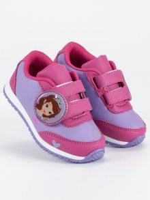 Dívčí růžové tenisky na suchý zip Sofie První