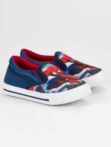 Nazouvací modré chlapecké tenisky Spiderman