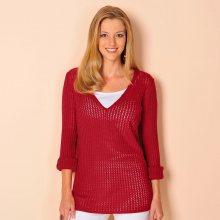 Blancheporte Ažurový pulovr červená 42/44