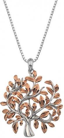 Hot Diamonds Luxusní stříbrný náhrdelník se stromem života Jasmine DP701