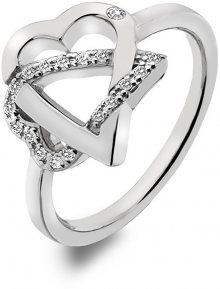 Hot Diamonds Stříbrný srdíčkový prsten Adorable DR203 52 mm