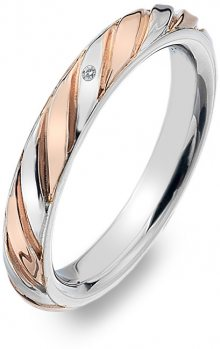 Hot Diamonds Bicolor prsten s diamantem Breeze DR177 56 mm