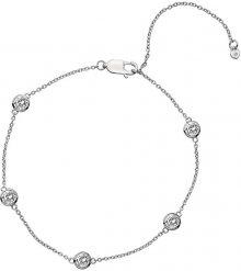 Hot Diamonds Stříbrný náramek s topazy a pravým diamantem Willow DL580